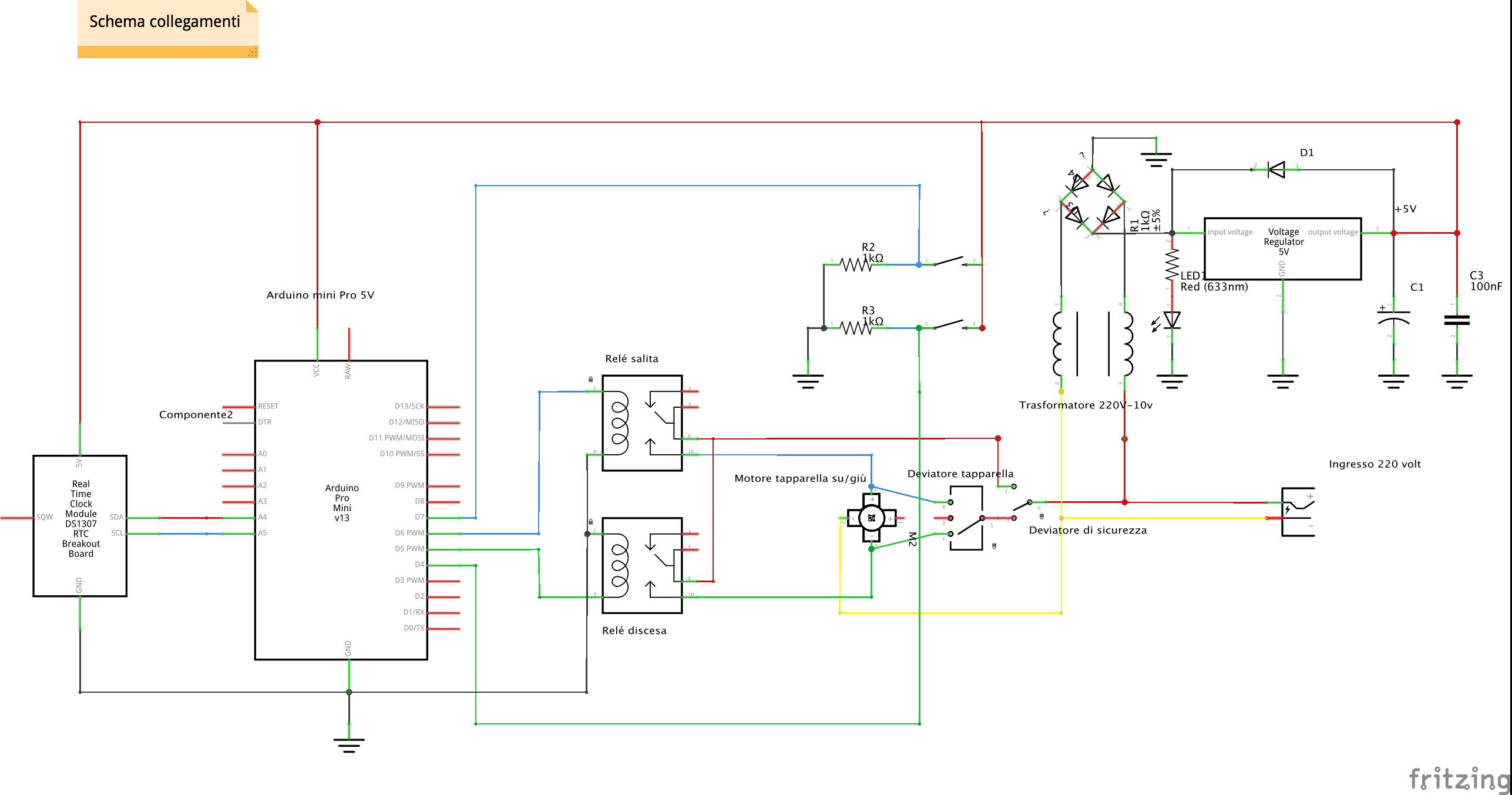 Schema Elettrico Tapparelle Motorizzate : Automazione tapparelle con arduino parte